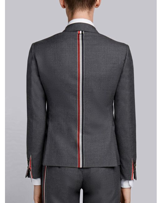 Thom Browne Wool Center Back Stripe Sport Coat In Grey