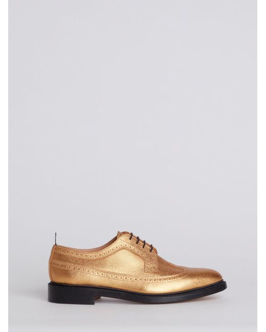 Thom BrowneClassic Pebble Grain Longwing Brogue in Metallics. tfYQl
