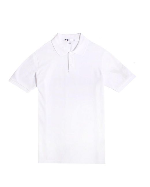 Y-3 - Y-3 Classic Polo White for Men - Lyst