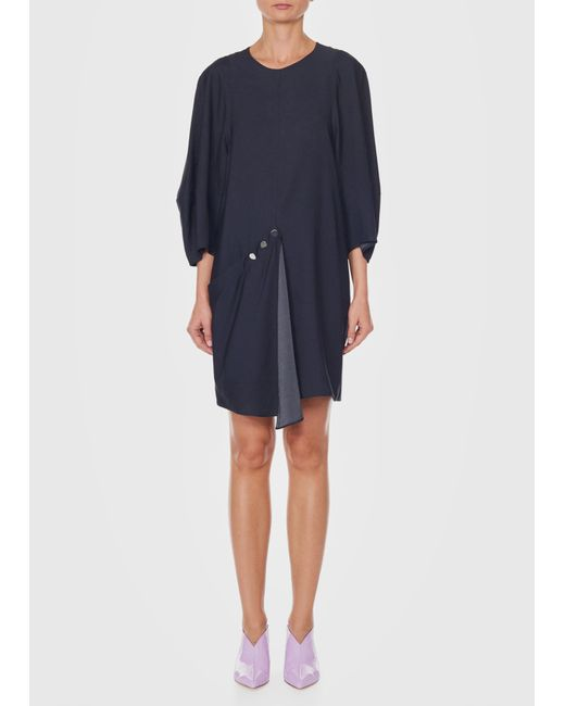 Tibi - Black Asymmetrical Short Flap Front Dress - Lyst