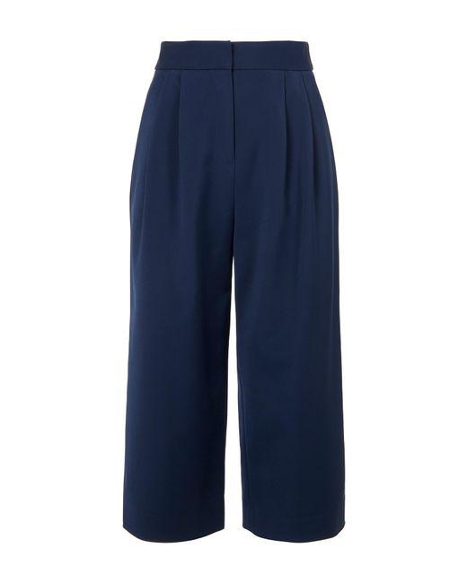 Tibi | Blue Stretch Faille Culottes | Lyst