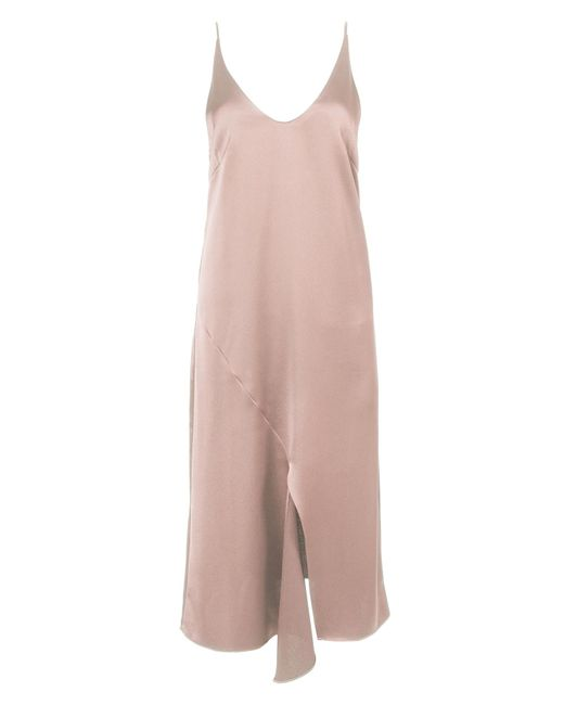 Tibi | Pink Celestia Satin Slip Dress | Lyst