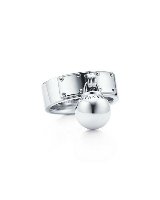 Tiffany & Co | Metallic Ball Dangle Ring | Lyst