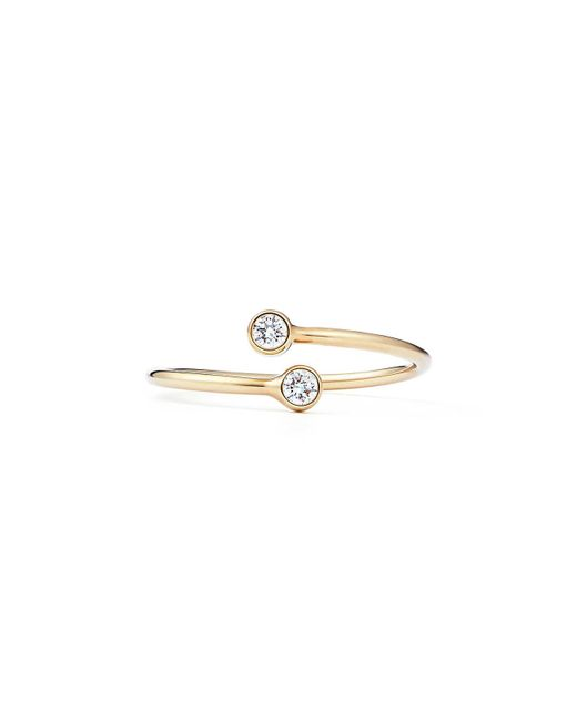 Tiffany & Co - Metallic Diamond Hoop Ring - Lyst