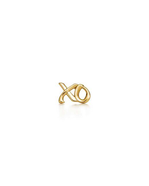 Tiffany & Co - Metallic Love & Kisses Single Earring In 18k Gold - Lyst
