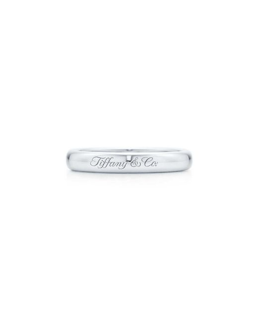 Tiffany & Co - Multicolor Lucida. Band Ring In Platinum With Engraving, 3mm Wide - Size 4 - Lyst