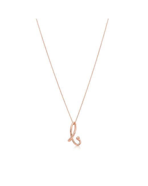 "Tiffany & Co - Metallic Letter ""a"" Pendant - Lyst"