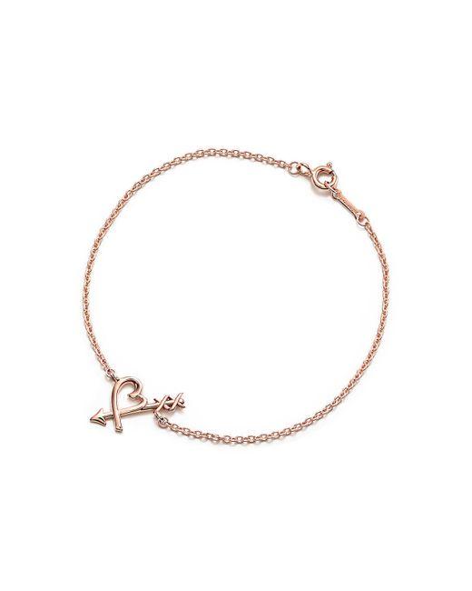 Tiffany & Co - Metallic Loving Heart Arrow Bracelet - Lyst