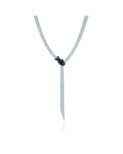 Tiffany & Co - Metallic Snake Necklace - Lyst