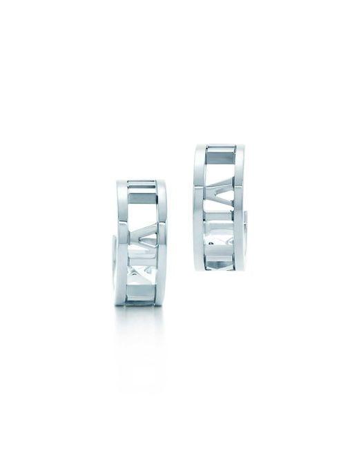 Tiffany & Co - Metallic Hoop Earrings - Lyst