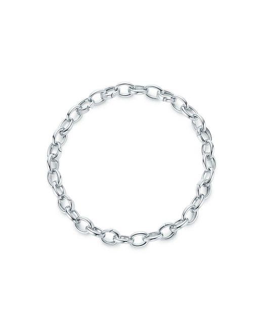 Tiffany & Co - Metallic Oval Link Bracelet - Lyst