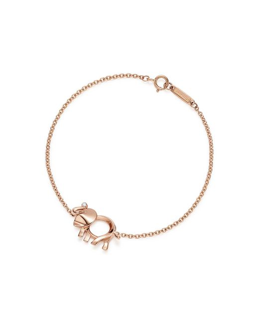 Tiffany & Co - Metallic Tiffany Save The Wild Elephant Charm Bracelet In 18k Rose Gold With A Diamond - Large - Lyst