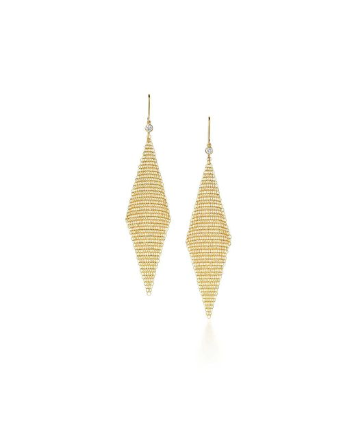 Tiffany & Co - Metallic Mesh Earrings - Lyst