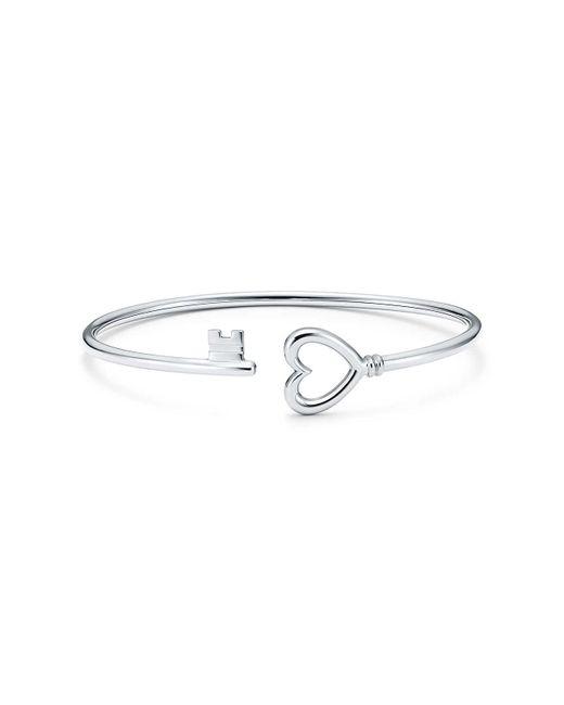 Tiffany & Co - Tiffany Keys Wire Heart Bracelet In 18k White Gold, Large - Lyst