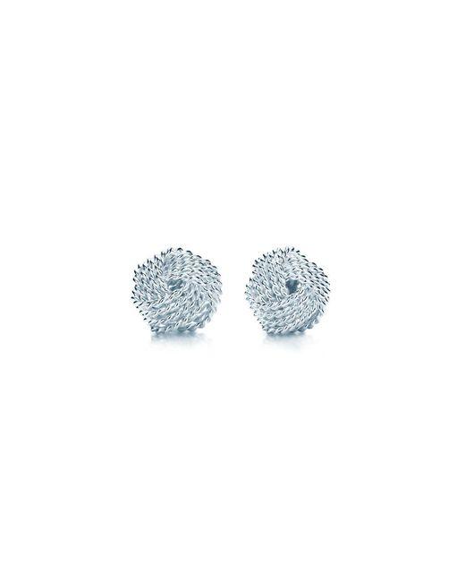 Tiffany & Co | Metallic Tiffany Twist Knot Earrings | Lyst