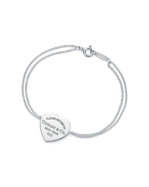 Tiffany & Co Metallic Heart Tag Bracelet In Sterling Silver, Medium