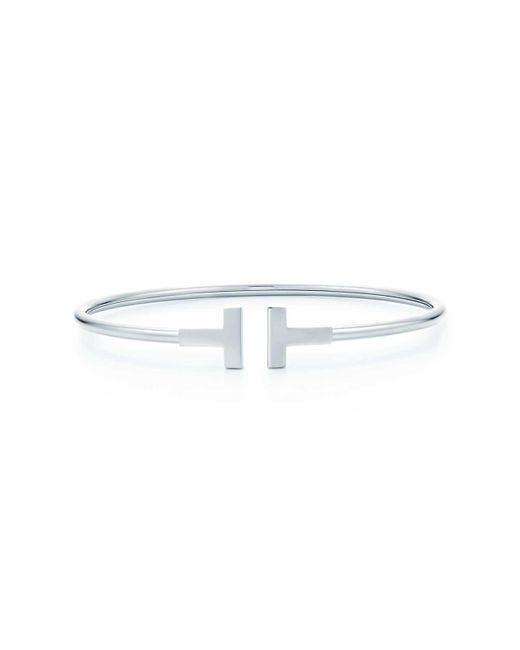 Tiffany & Co   White Wire Bracelet   Lyst