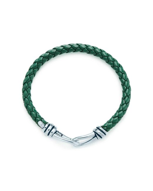 Tiffany & Co | Green Knot Single Braid Bracelet | Lyst