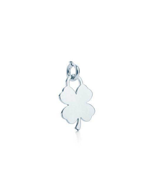 Tiffany & Co   Blue Four-leaf Clover Tag Charm   Lyst