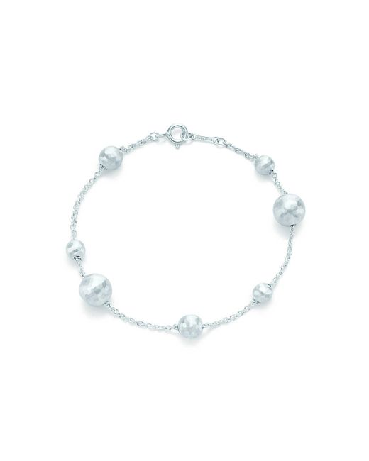 Tiffany & Co | Metallic Paloma Picasso. Hammered Bead Bracelet In Sterling Silver, Medium | Lyst