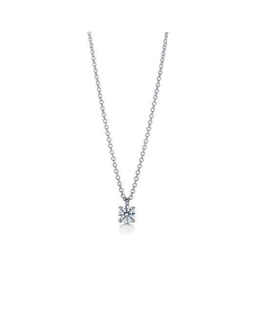 Tiffany & Co - Metallic Tiffany Solitaire Diamond Pendant In Platinum - Size .17 - Lyst