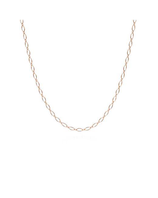 "Tiffany & Co - Metallic Oval Link Chain In 18k Rose Gold, 16"" Long - Size 16 In - Lyst"
