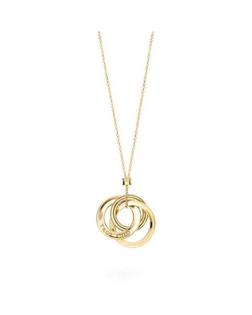 Tiffany & Co - Metallic Interlocking Circles Pendant - Lyst