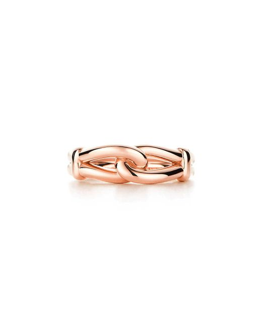 Tiffany & Co - Pink Knot Ring - Lyst