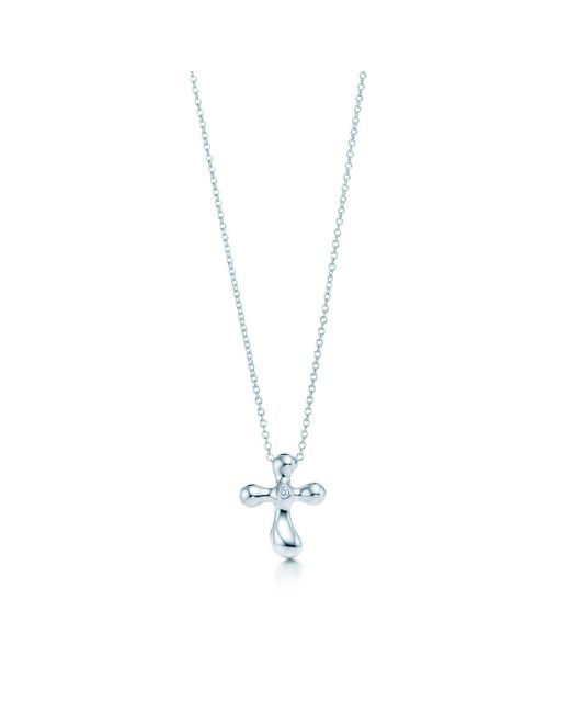 Tiffany & Co - Metallic Cross Pendant - Lyst