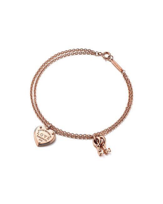 Tiffany & Co - Metallic Love Heart Tag Key Bracelet - Lyst