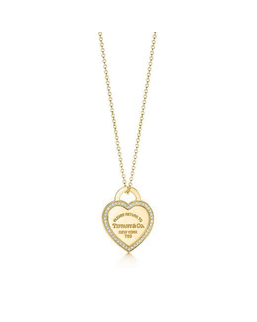 Tiffany & Co - Metallic Heart Tag Pendant - Lyst