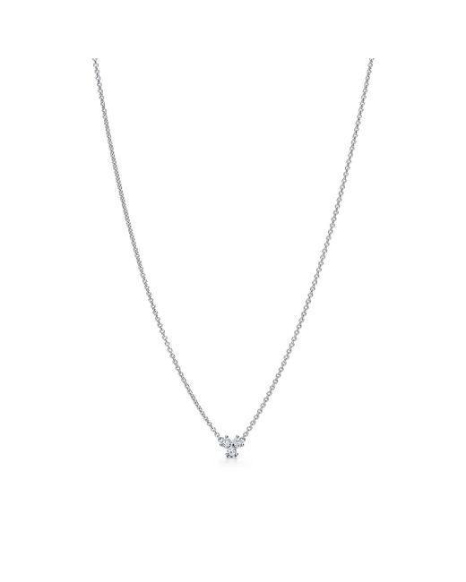 Tiffany & Co - Metallic Tiffany Aria Pendant In Platinum With Diamonds - Lyst