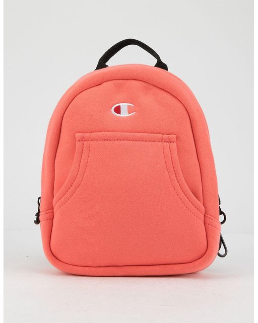 f4774fdefc Champion - Black Reverse Weave Convertible Pink Mini Backpack - Lyst ...