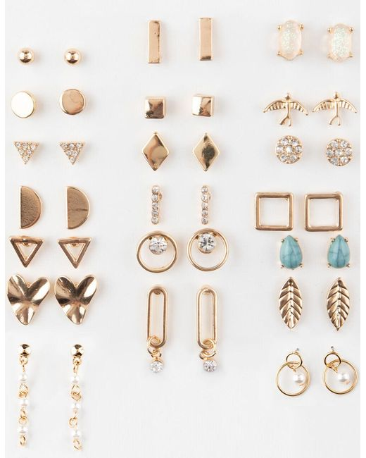 Full Tilt Metallic 20 Pairs Rhinestone/bird Earrings