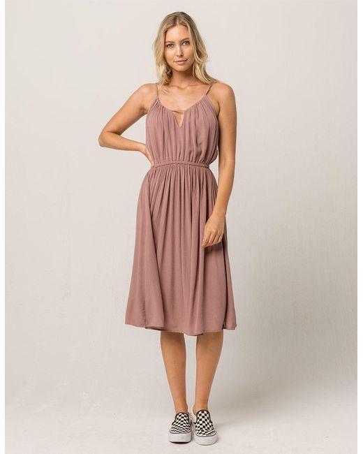 Volcom - Pink Rough Edges Dress - Lyst