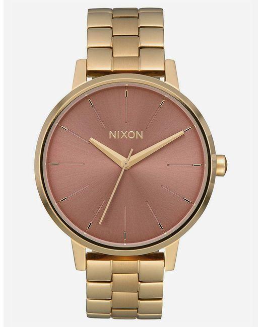 Nixon - Metallic Kensington Gold & Marsala Watch - Lyst