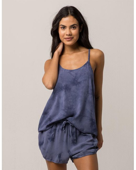 Others Follow - Blue Mineral Wash Womens Tank - Lyst