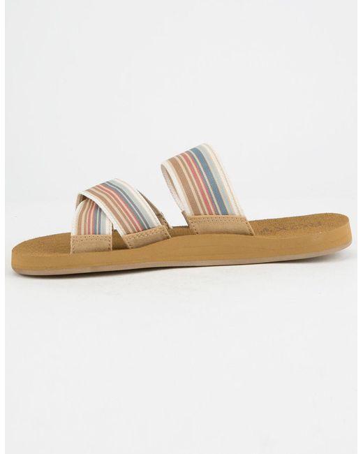 3535eafd466c Roxy multicolor shoreside multi womens sandals lyst jpeg 520x650 Shoreside  criss