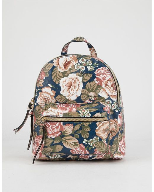 T-Shirt & Jeans - Blue Floral Mini Backpack - Lyst