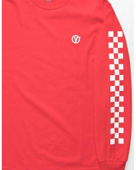f4b43f2b02 ... Vans - Red Classic Circle V Mens T-shirt for Men - Lyst ...