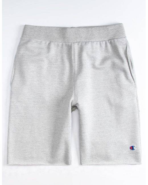 d8d47bd1 Champion Cut Off Mens Sweat Shorts in Gray for Men - Lyst