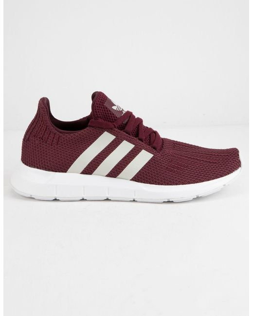 4cfa94543 Adidas - Purple Swift Run Maroon Womens Shoes - Lyst ...