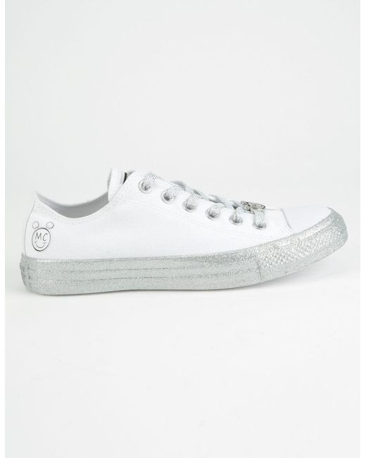 Converse - White X Miley Chuck Taylor All Star Low Top Shoes - Lyst