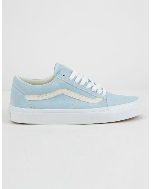 Lyst - Vans Pastel Suede Old Skool Crystal Blue Womens Shoes in Blue 538be42e8a