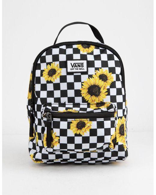 Vans Multicolor Sunflower Check Mini Backpack