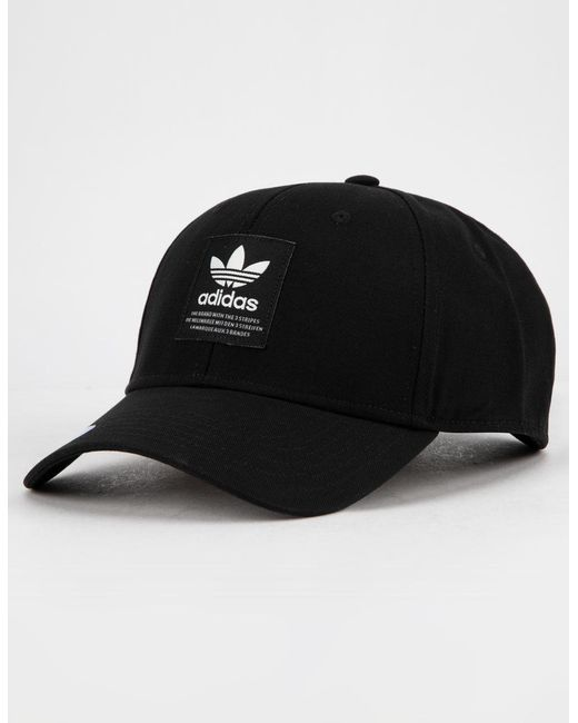 Adidas - Originals Trefoil Patch Black   White Mens Snapback Hat for Men ... 15655133c0f