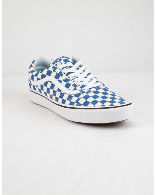 2f3eeef5e57 ... Vans - Comfycush Checker Old Skool Lapis Blue   True White Shoes ...