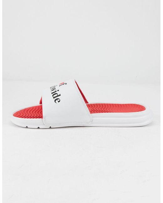 "Blue Leopard HUF /""Slide/"" Sandals Men/'s Slip On Cheetah Print EVA Shoes"