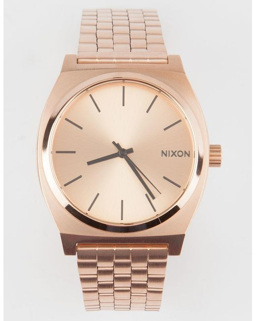 Nixon - Multicolor Time Teller Rose Gold Watch - Lyst