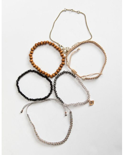 Full Tilt Multicolor 6 Pack Evil Eye/beaded Bracelets